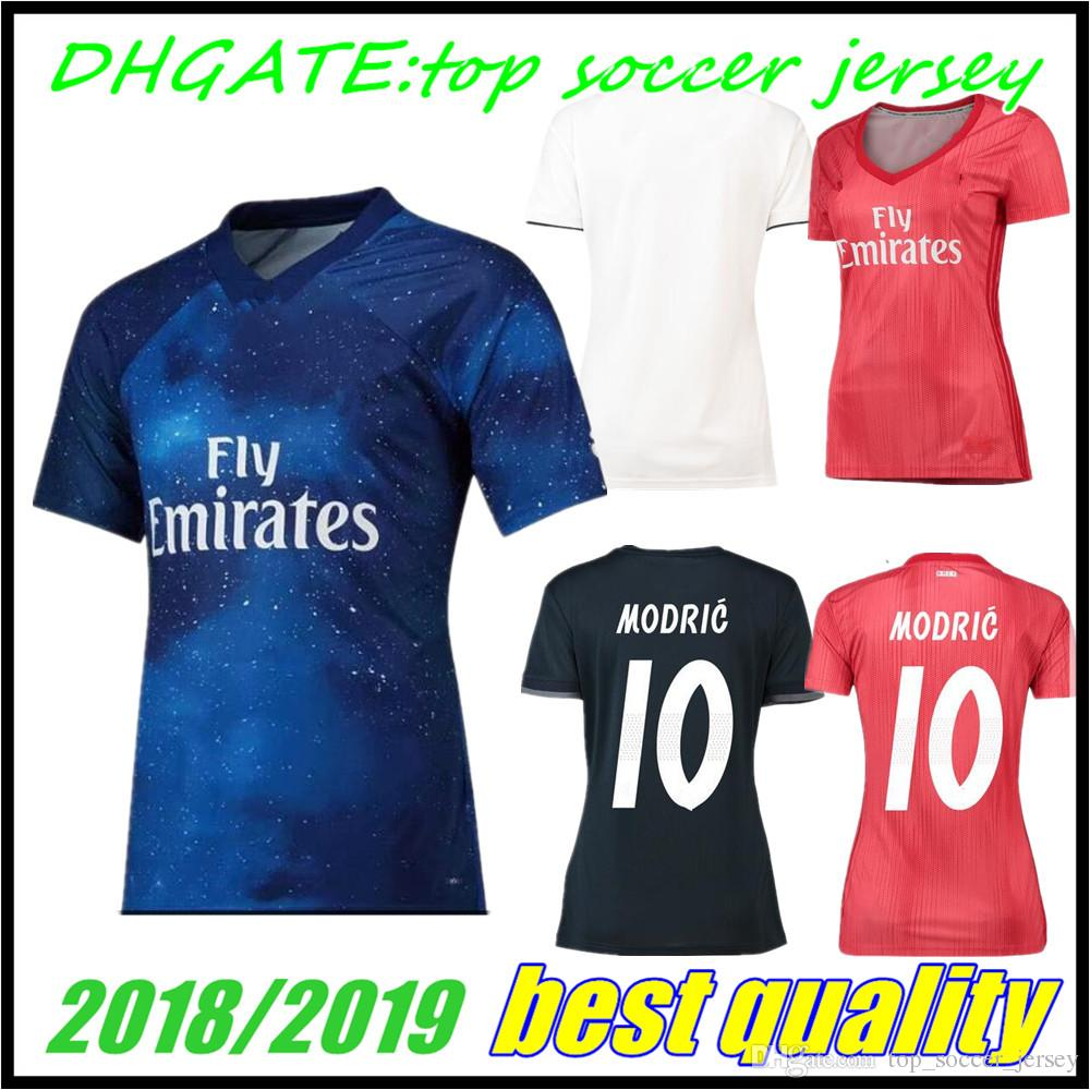 03f3a9e6e 2019 Women Real Madrid Third Blue 2018 Soccer Jersey Asensio SERGIO MODRIC  RAMOS MARCELO BALE ISCO Camiseta KROOS 18 19 2019 Football Shirts From ...