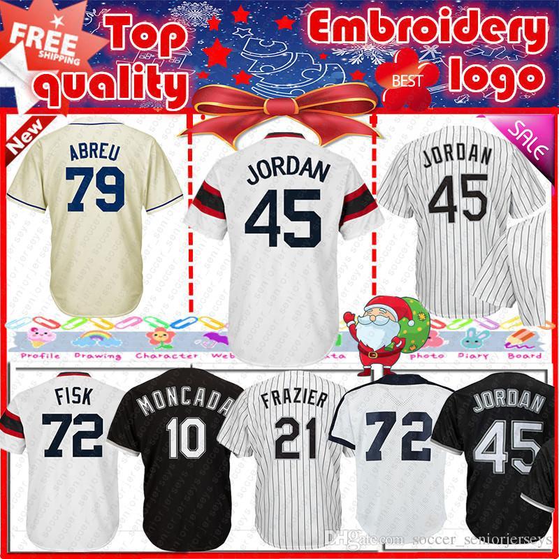 hot sale online edd43 d291d Chicago White Sox Jersey baseball jersey 10 Yoan Moncada 8 Bo Jackson 79  Jose Abreu Men s Baseball Jerseys