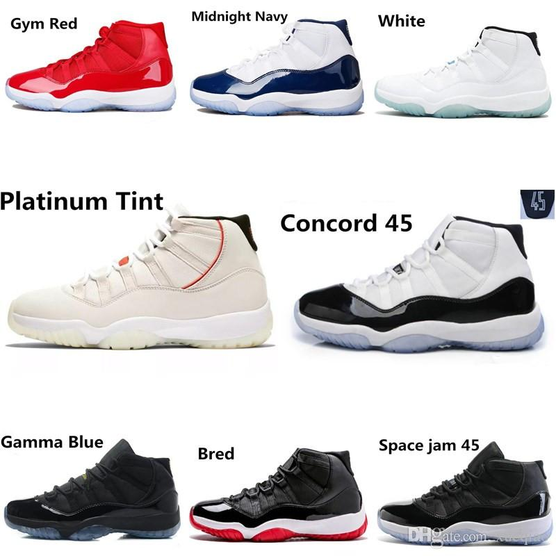 0b6260f53f5ded Best Quality Basketball Shoes 11 Concord 45 Platinum Tint 11s Men ...