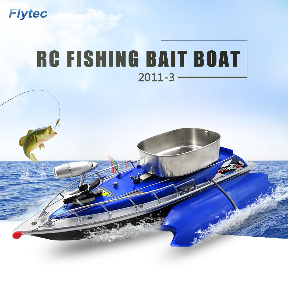 wholesale 2011-3 RC Boat Intelligent Wireless Electric RC Fishing Bait Boat Remote Control Fish Finder Ship Searchlight RC Toys