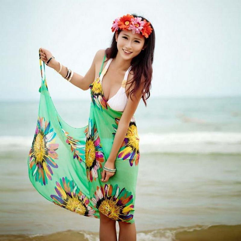 bc338d4415 2019 Vertvie Women Chiffon Beach Tunic Sexy Beach Dresses Swim Backless  Long Dress Lady Bride Swimsuit Cover Womens Cover Up Bikini From Linyicity,  ...
