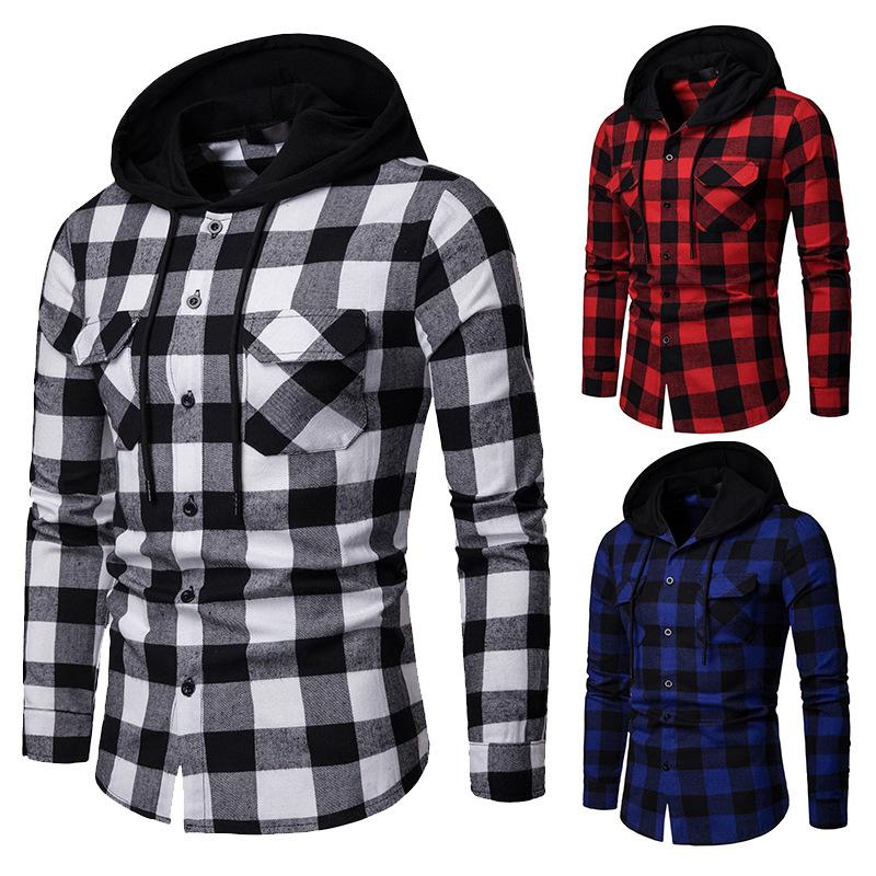 2019 Brand Flannel Shirt Men 2019 Fashion Korean Plaid Casual Shirts