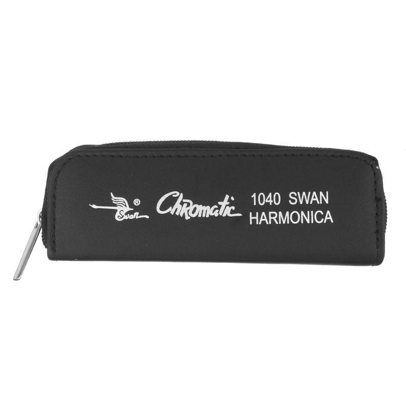 Swan SW1040 10 Holes 40 Tones Chromatic Harmonica C Key Silver Harps Musical Instrument Mouth Organ Top Quality harmonicas