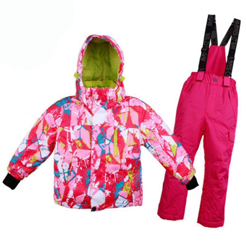 474f187dfa48 2019 Boys Girls Ski Suit Waterproof Pants+Jacket Set Winter Sports ...