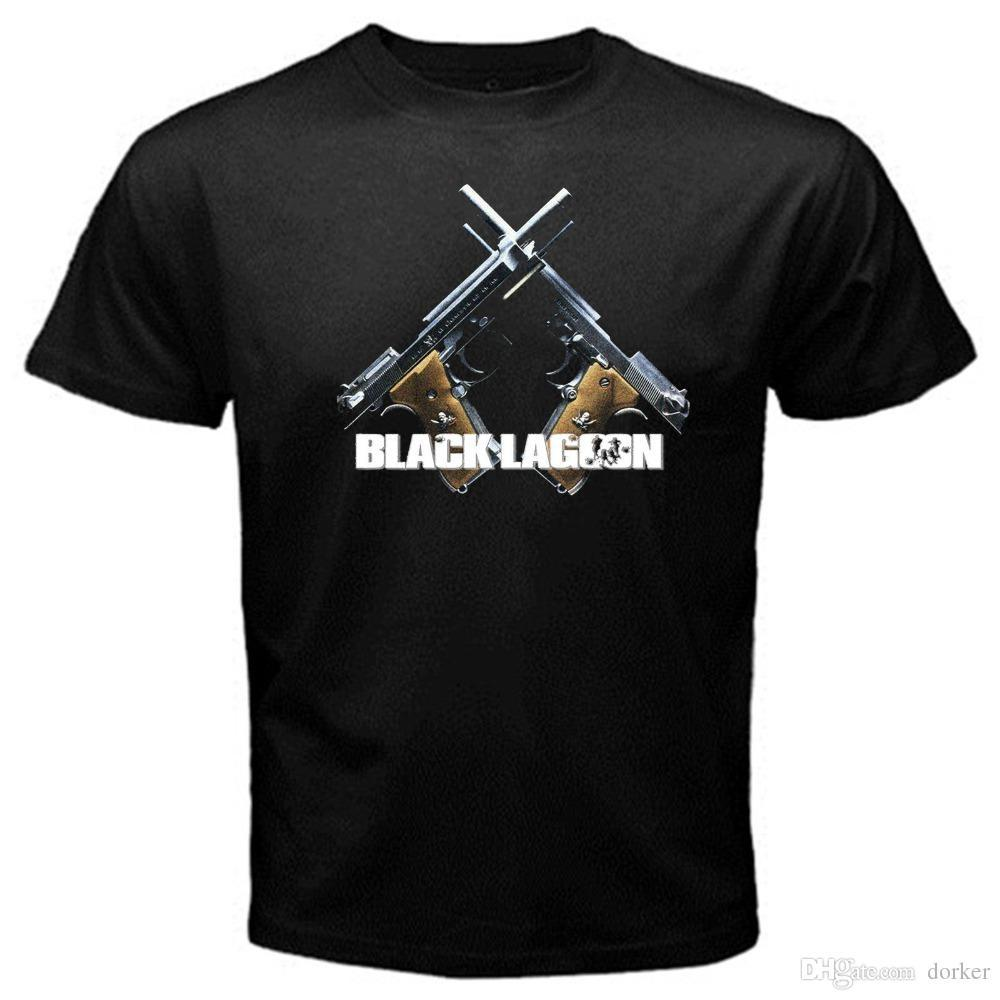 2018 New Summer T-shirts Black Lagoon japan pirate merc revy rokurou dutch T-Shirt Black Printed T Shirts Men's Streetwear