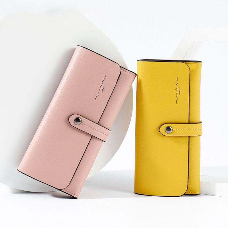 Women Lady PU Leather Wallet Long Clutch Card Cash Holder Purse Gift F42A