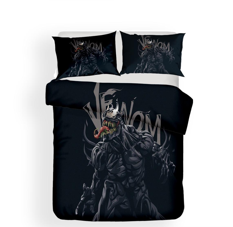 Großhandel 2018 Neue Bettwäsche Black Marvel Theme Venom Bettwäsche