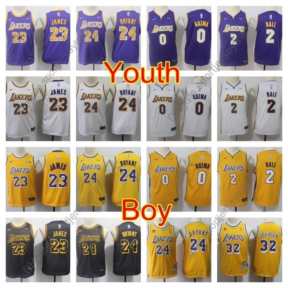 ece65261d 2019 2019 Boys Los Angeles 23 Lakerses LeBron James Kids Lonzo Ball Kyle  Kuzma Basketball Jerseys Youth Kobe Bryant Magics Johnson Vintage S XL From  ...