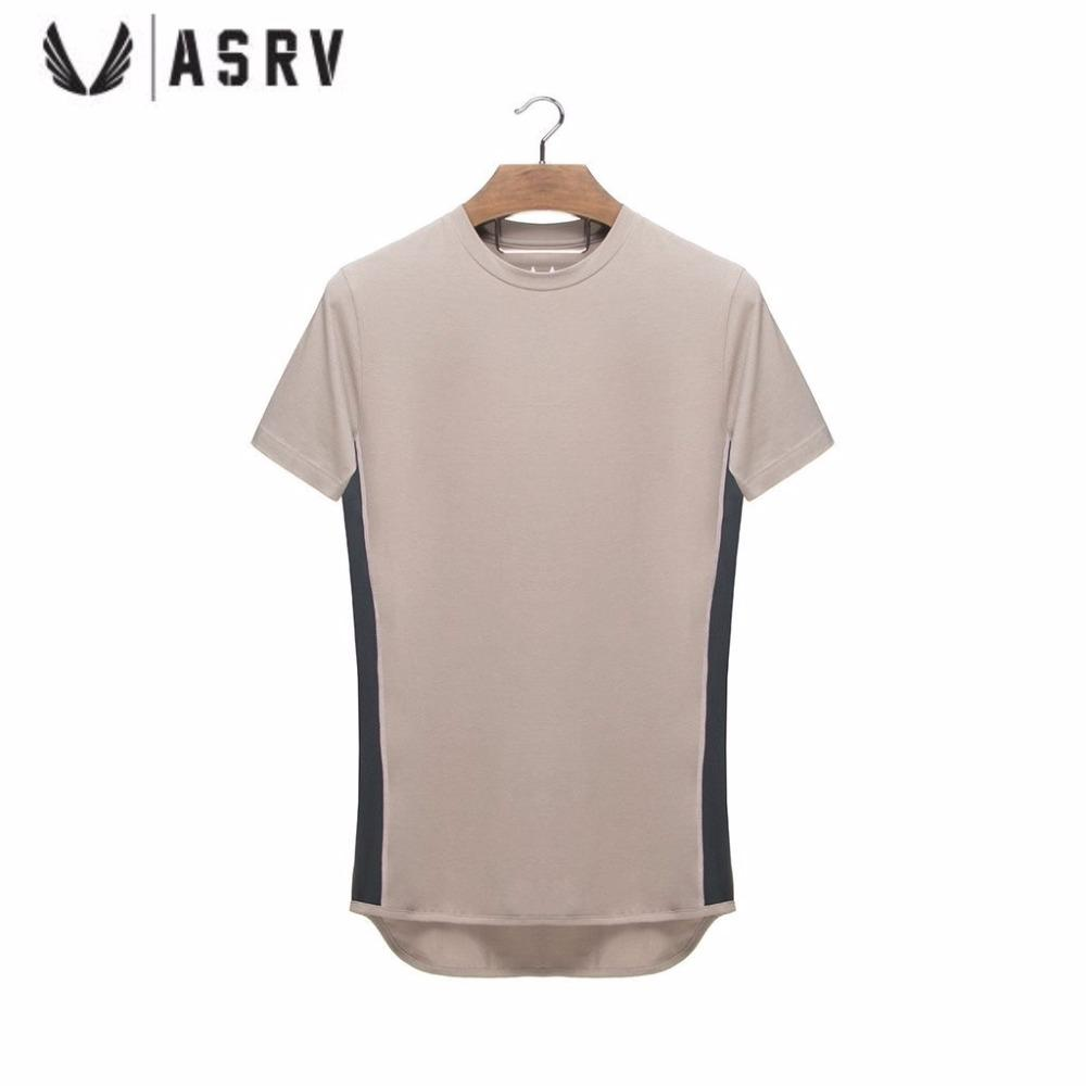 d4e2fba3e ASRV Fitness Running T-shirts Short Sleeve Men's Sport Brand T Shirt Gym  Sportswear Clothing Black Training Slim Fit Tee Top