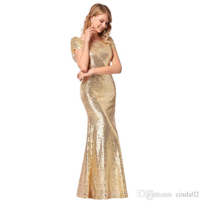 Compre Vestido Nuevo De Dama De Honor Para Mujer Lentejuelas De Alto Grado  Vestidos De Boda A  48.34 Del Derrick85  9d93c84208f
