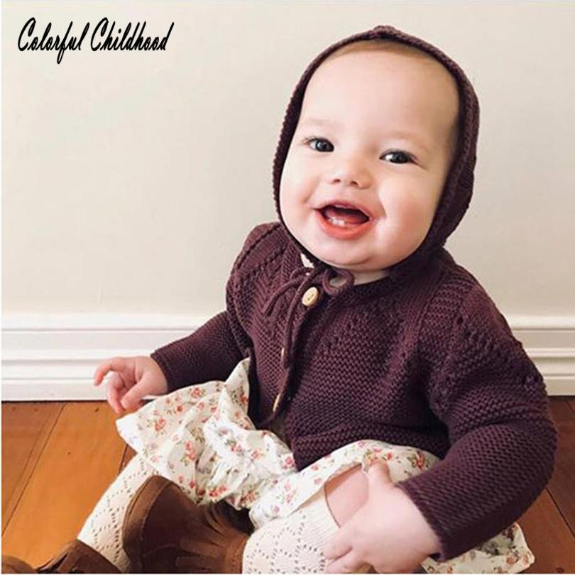 e3002105e8fa Newborn BABY Cardigan With Hat Winter Warm Knitted Sweater Lovely ...