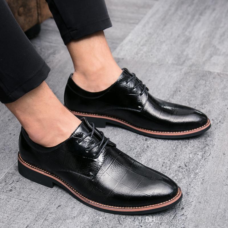 Inglaterra Puntiaguda Compre Punta Zapatos Hombre De 7qcdO0w