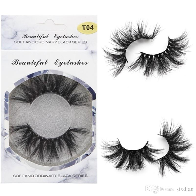 541dc497c06 2019 25mm Long 3D Mink Eyelashes 5D Mink Lashes False Eyelash Big Dramatic  Mink Eyelash 100