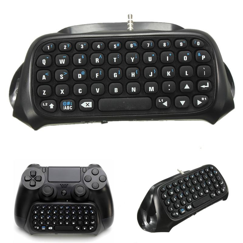 1Pc Wireless Bluetooth Chatpad Message Keyboard for Sony for PlayStation 4 for PS4 Controller Black High Quality