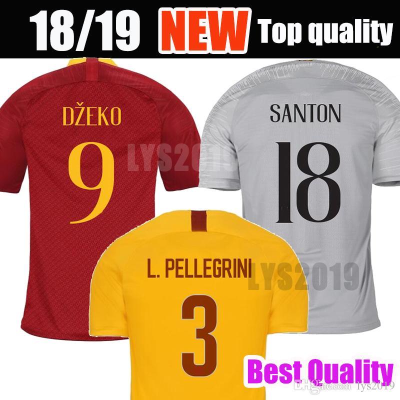 7e2cf0430e3 2019 2019 TOTTI Roma Soccer Jersey 18 19 DE ROSSI A.S.Roma Soccer Shirt  Customized DZEKO EL SHAARAWY Football Uniform Size S 3XL From Lys2019