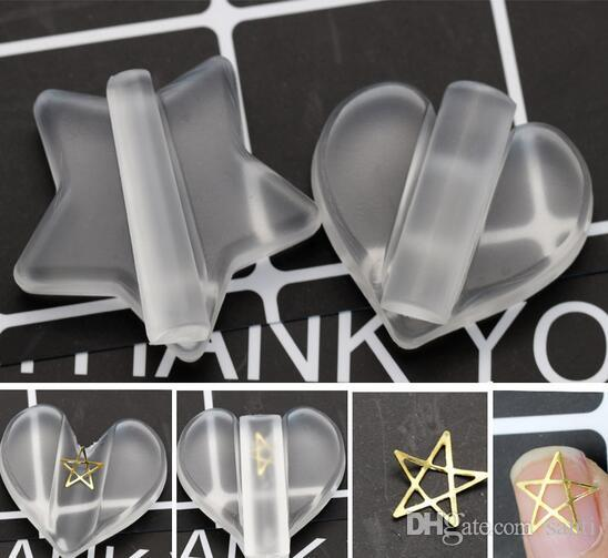Star Shape Professional Embossed Mold Nail Tools Metal Frame Bending