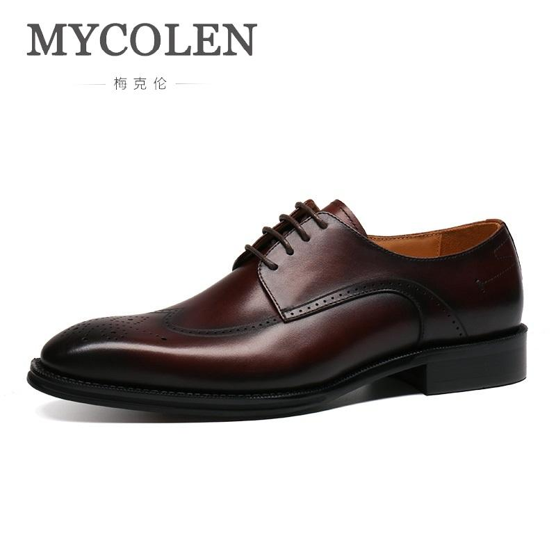 El De Nuevo Vestido Negocios Anuncio Hombre Zapatos Mycolen Cordones Boda Masculino Cuero Con Sapatos Elegante tdrQshCxB
