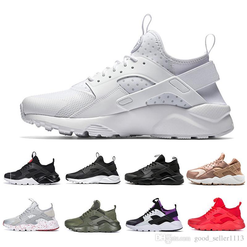 aa5f0b998ef0 Air Huarache 1.0 IV 4.0 Mens Running Shoes Triple Black White Red Fashion Huaraches  Mens Trainers Women Sports Sneakers 5.5 11 Walking Shoes Trail Running ...
