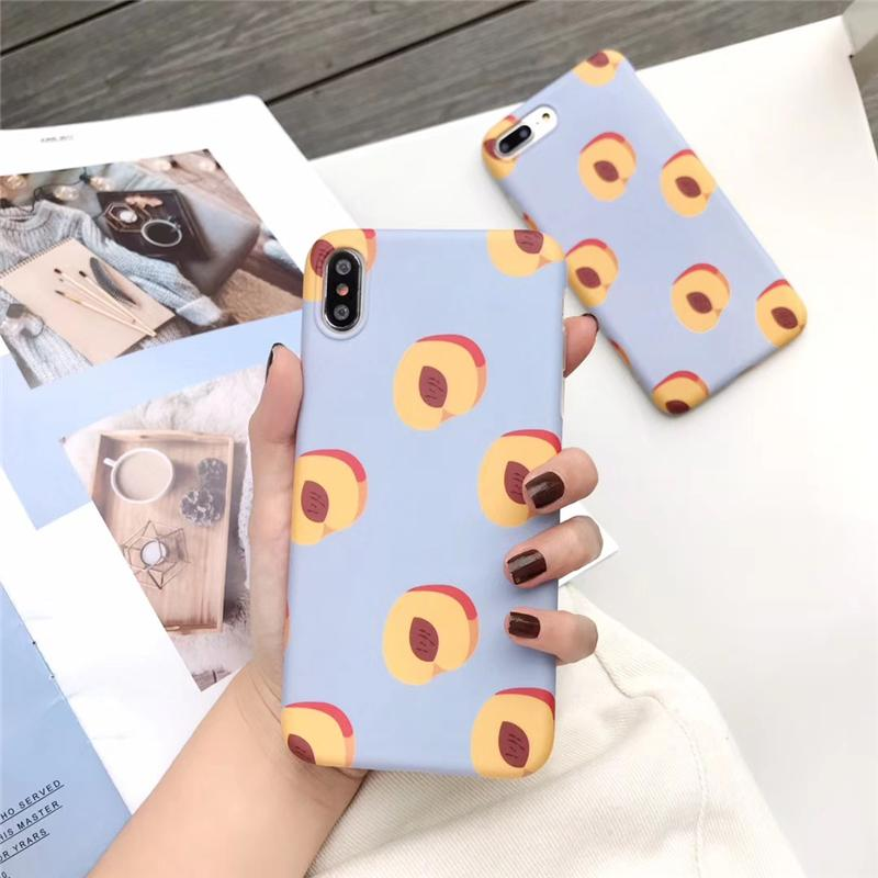 One Piece TPU phone case lovely and fashion For iPhone 6S 7 8 P X XS summer peach Designer phone back cover