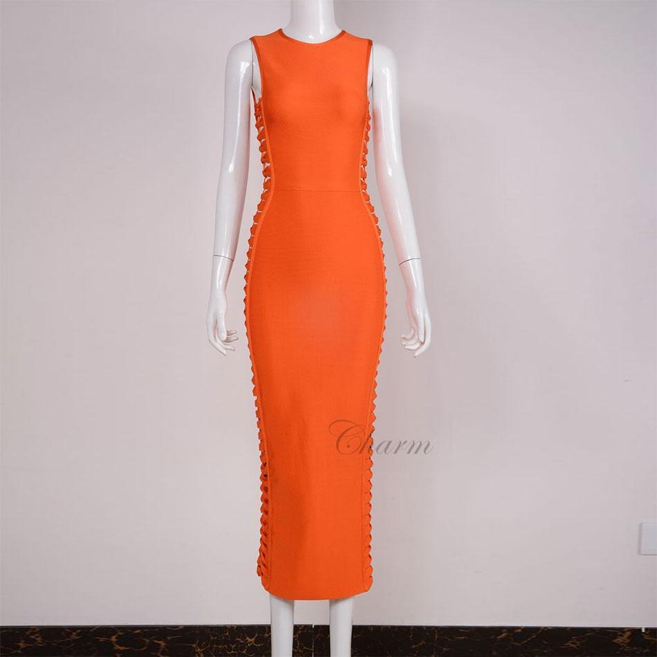 76ad7fb97c4 Acheter New Summer Vestidos Creux Out Bodycon Bandage Robes Femmes ...