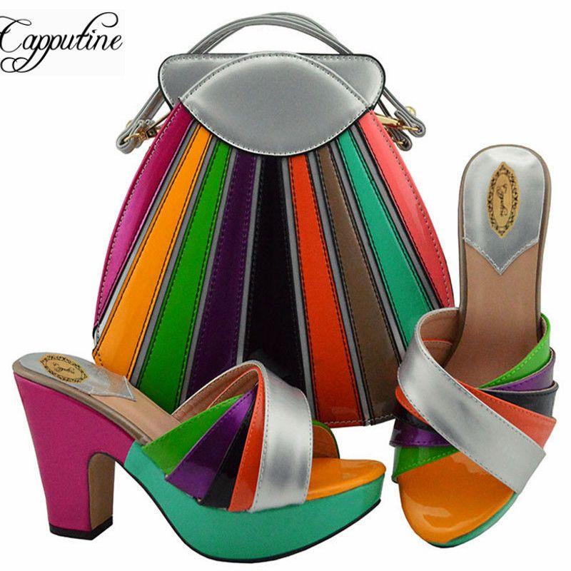 Hauts Ensemble Md008 Talons 42 Italien Summer Style Femme Set Robe Taille En 38 Pu Sac Pour Et Cuir Nigeria À Chaussures Sacs Z8k0XNnwOP