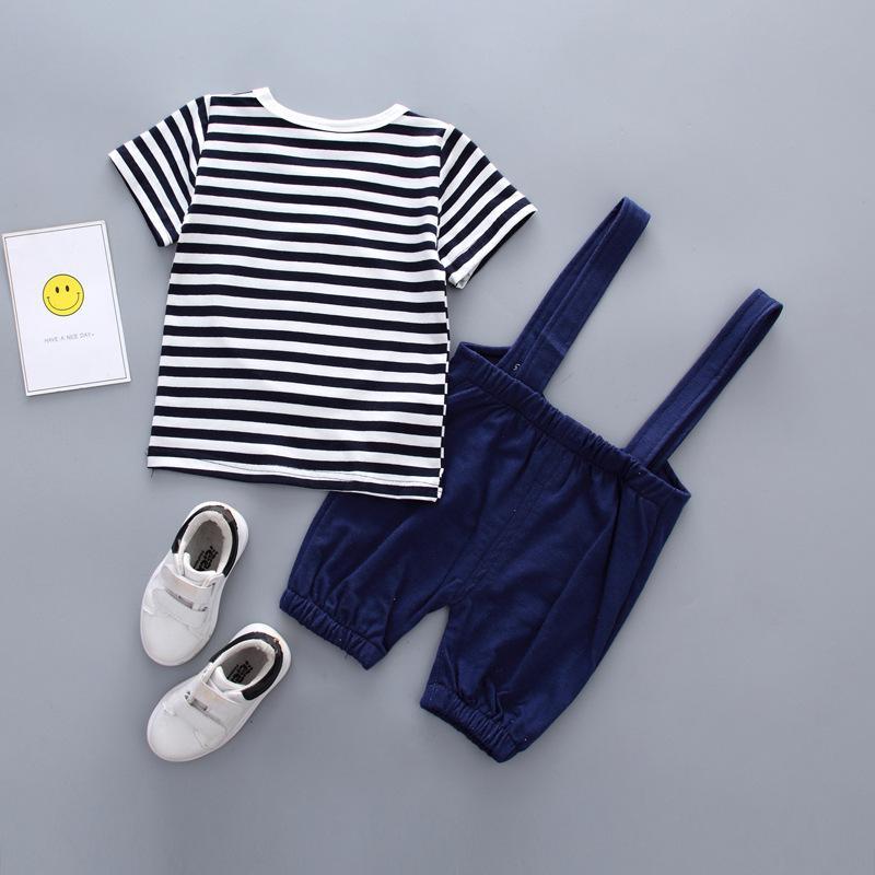 4cf63ff30 Compre 2 UNIDS Set Bebé Toddler Kids Niños Ropa T Shirt Tops + Tirantes  Trajes Traje Infantil Body Ropa De Bebé Niño Ropa A  28.37 Del Nextbest09