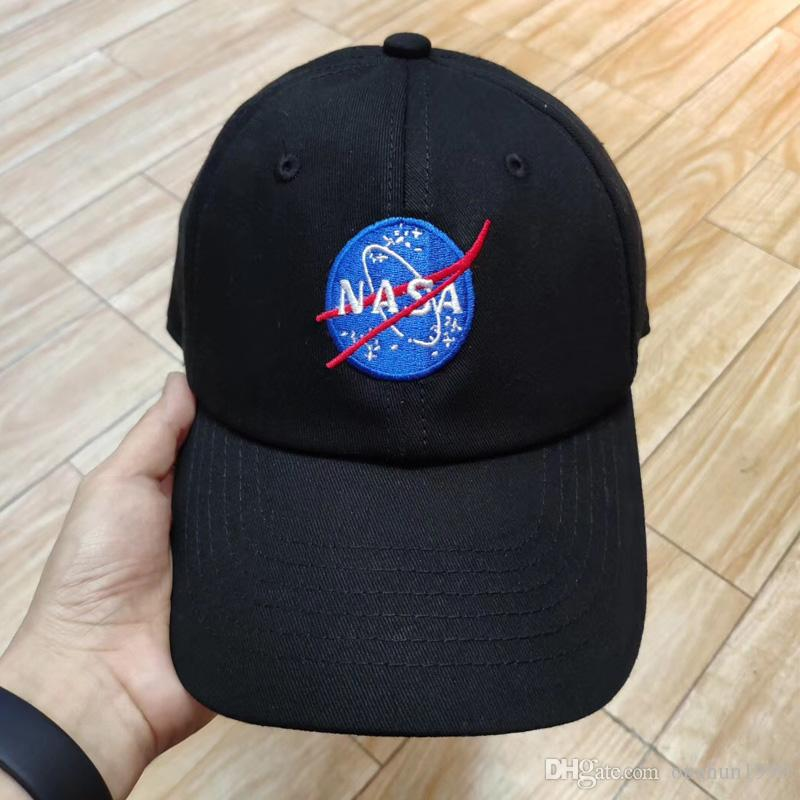 NASA Baseball cap Snapback Hip Hop Cotton Embroidery Dad Hat Drake Men Women Camping Hunting Outdoor Summer Visor Beach Sun Hats Trucker Cap