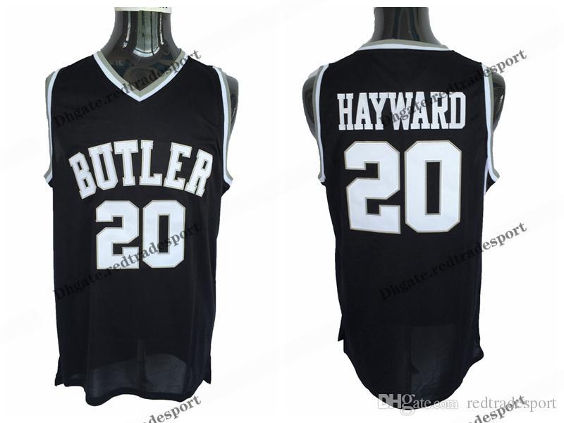 size 40 89997 8a44b Mens Butler Bulldogs Gordon Hayward College Basketball Jerseys Vintage  Black #20 Cheap Gordon Hayward Stitched Basketball Shirts S-XXL
