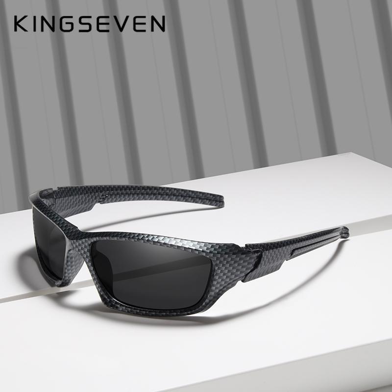 06d063b4733f4 Compre KINGSEVEN Marca 2019 Vendas Limitadas TR90 Polarizada Óculos De Sol  Dos Homens De Fibra De Carbono Quadro De Pesca Óculos De Condução Óculos De  Sol ...
