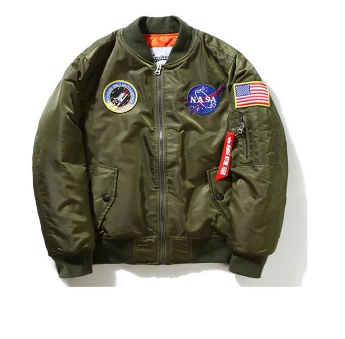 5b3d6fb9c2c0 Nasa Bomber Jacket Men Women Pilot MA1 Man Coat Winter Hombre ...