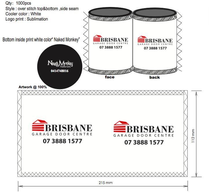 Grosshandel 1000 Teile Los Benutzerdefinierte Stubby Halter Neopren