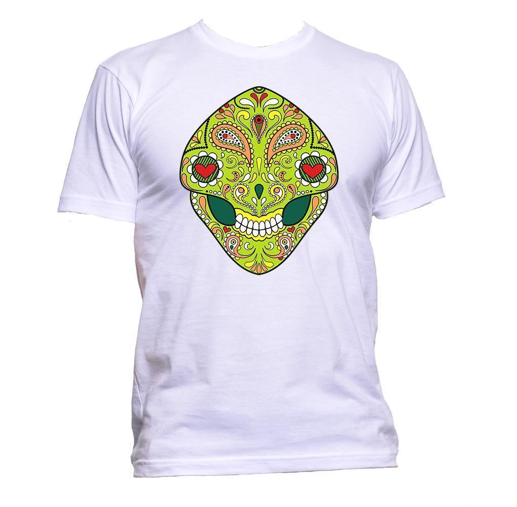 5e14a4a9eab155 Sugar Skull Green Painted Design T Shirt Mens Womens Unisex Fashion Slogan  Gift Jersey Print T Shirt Fun Tee Daily Tee Shirts From Shortcup