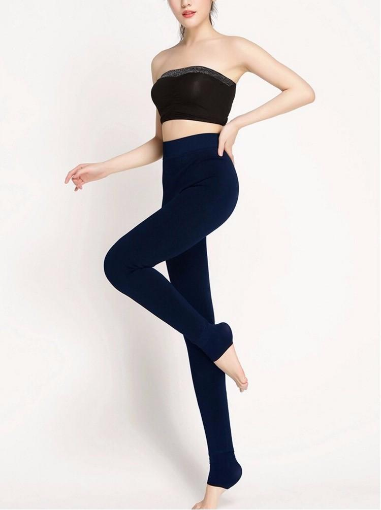 Hot 2019 New Fashion Sexy Tight Women's Autumn and Winter Alta elasticidad y buena calidad Pantalones de terciopelo grueso Medias cálidas