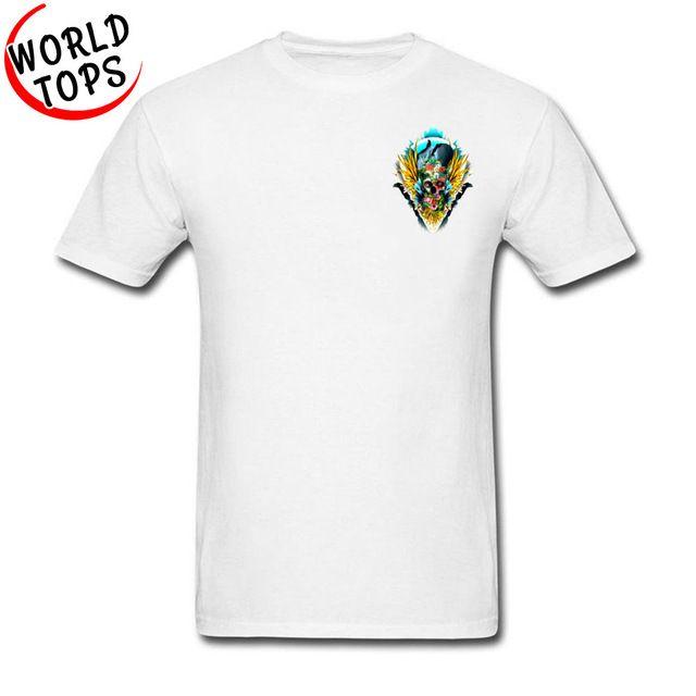 Camisetas 2019 Tops De Mexico Verano Gran 3d Para Hombre Skull Tamaño Algodón Diseñador 3xl Populares Flower orCdexB
