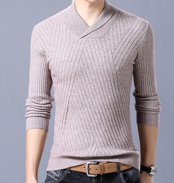 Compre 2019 Nueva Marca De Moda Suéter Para Hombre Pullover Rayas Slim Fit  Jumpers Tejida De Lana Otoño Estilo Coreano Casual Hombres A  201.59 Del  Beenni ... fdc127b56bc1