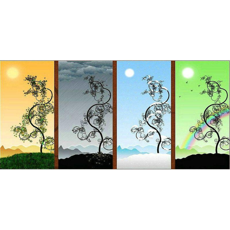 Satın Al Elmas Boyama Dört Mevsim Manzara Ağacı Tam Diy