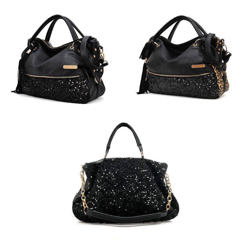 de94a25d0ede Women Fashion Sequins Handbag Leather Tote Large Capacity Shoulder Bag  Messenger Top Handle Bags Shoulder Bags Cheap Shoulder Bags Women Fashion  Sequins ...