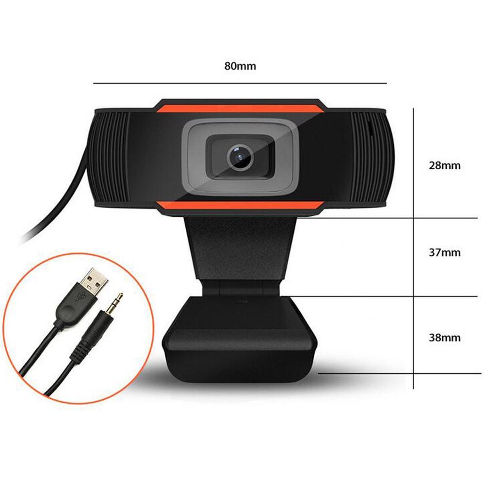 HD Webcam Web Telecamera 30FPS 480P / 720P / 1080P PC Microfono da assorbimento insonorizzato incorporato USB 2.0 Record video computer PC Laptop in magazzino