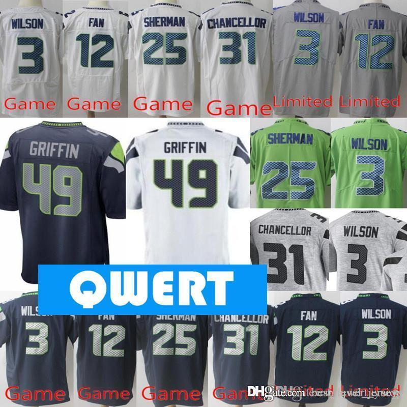 info for ecef5 4d300 Mens Seattle Seahawks jerseys 3 Russell Wilson jersey 49 Shaquem Griffin  jersey 22 Doug Martin 20 Rashaad Penny all stitched jerseys