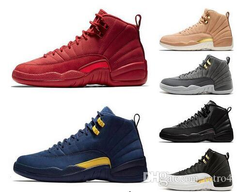 low priced d9e77 c0fbb Winterized 12 Gym Red 12s men basketball shoes Michigan WINGS bulls UNC Flu  Game the master black white taxi Sport trainers sneakers