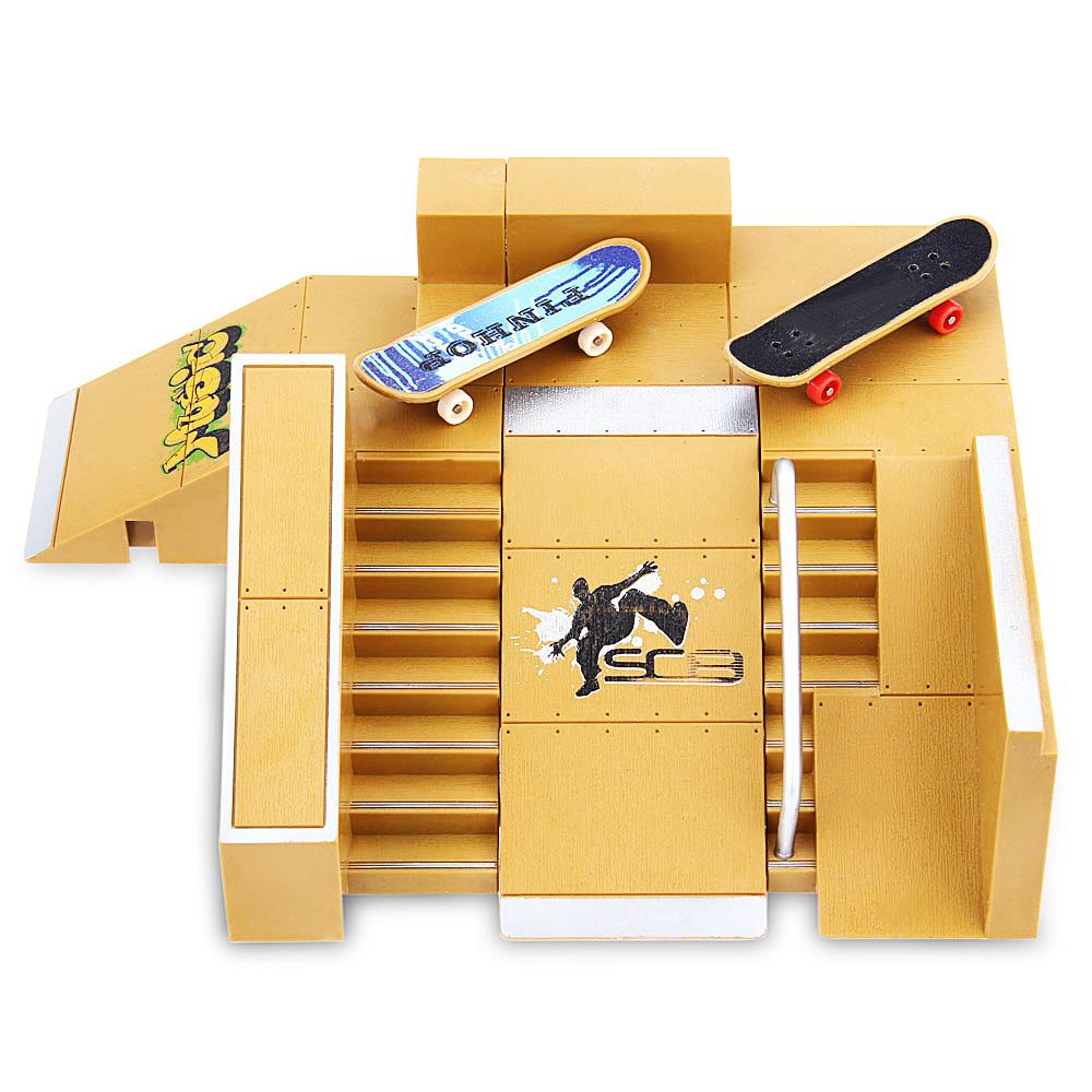 Finger Skateboards 5pcs Skate Park Kit Ramp Parts For Tech Deck Fingerboard  For Extreme Sports Enthusiasts Suitable For All Ages