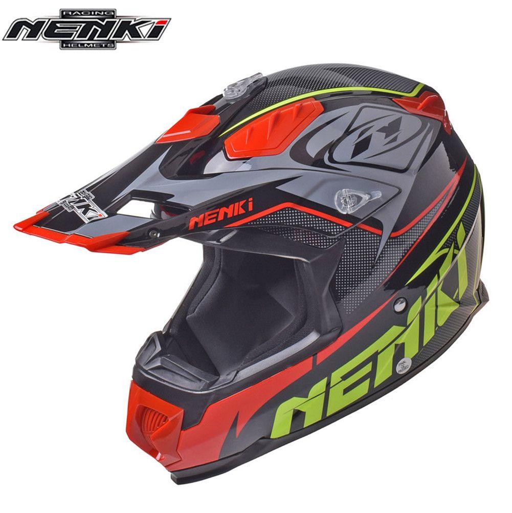 dbd576a569837 Compre NENKI MX Casco De Motocross Off Road Casco Capacete Cross Downhill  Moto MTB ATV DH Para Cascos De Motocicleta Mountain Dirt Bike A  105.6 Del  ...
