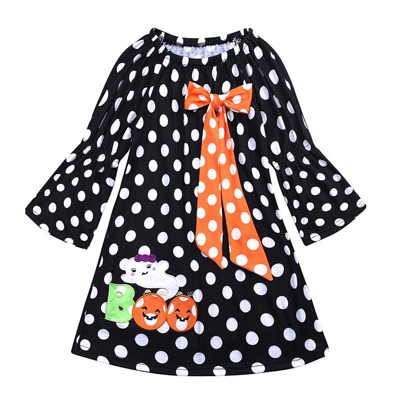 afbe063e118d 2019 Baby Girl Halloween Clothes Toddler One Piece Dress Cotton ...