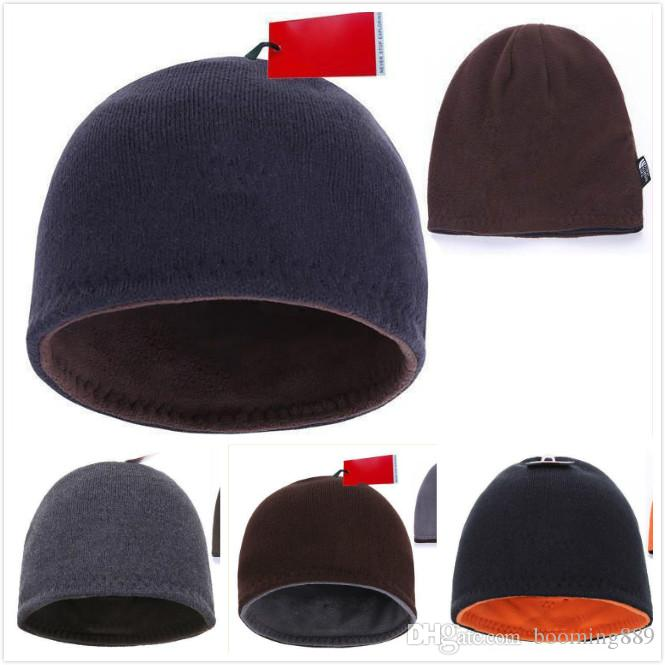 5996f9b6e19 2019 Fashion Beanies Brand Men Autumn Winter Hats Sport Knit Hat Thicken Warm  Casual Outdoor Hat Cap Double Sided Beanie Skull Caps Fitted Caps Knit Hats  ...