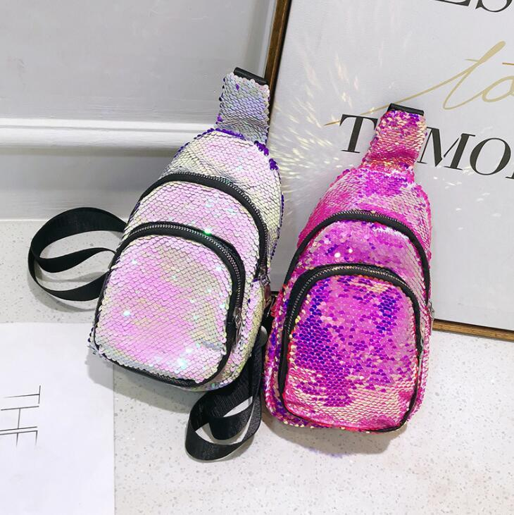 Mermaid Glitter Fanny Pack Women Mermaid Sequins Travel Fanny Chest ... 06f03e0aebaa