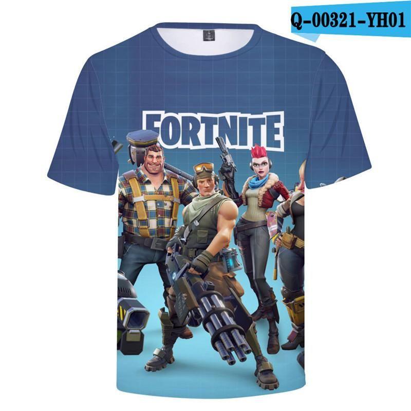 5a50d7cd 3D Digital Printed T-shirts Battle Royal Fortnite Hot Game Short Sleeve  Summer Streetwear Tee Shirts Plus Size Casual Top Tees T-Shirt Casual Top  Tees 3D ...