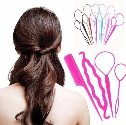 Mode 4 Teile Satz Schnell Einfach Brotchen Prinzessin Frisur Hair Friseur Frauen Maker Zubehor