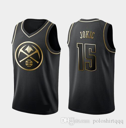 new styles d308b 0869c NCAA 2019 New Men City 15# Jokic jersey The Fans black Stitched basketball  jerseys Embroidery shirt