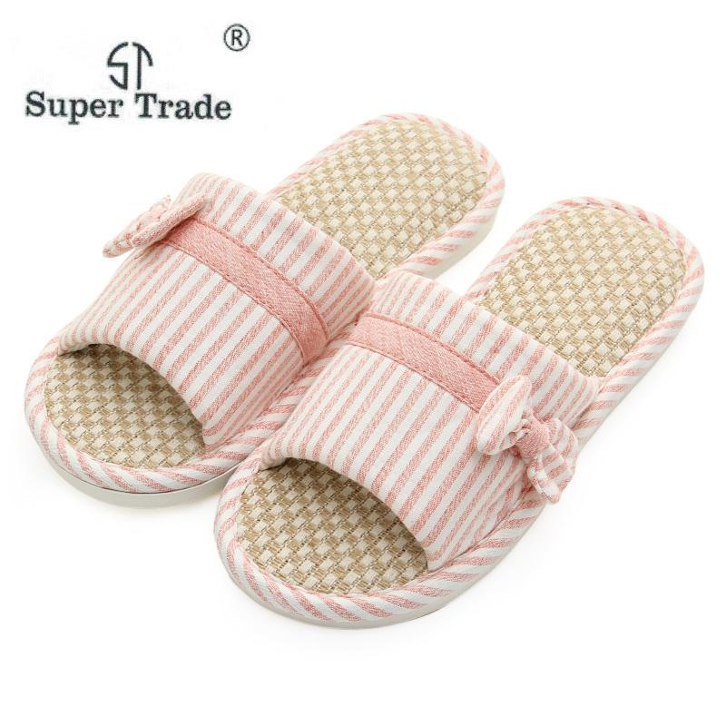 41c897d1bb8370 Women 2019 Summer Flax Home Slippers For Couples Men Indoor Floor Sandals  Ladies Casual Silent Open Toe Flats Shoes House Shoes Boots Online Cowboy  Boots ...