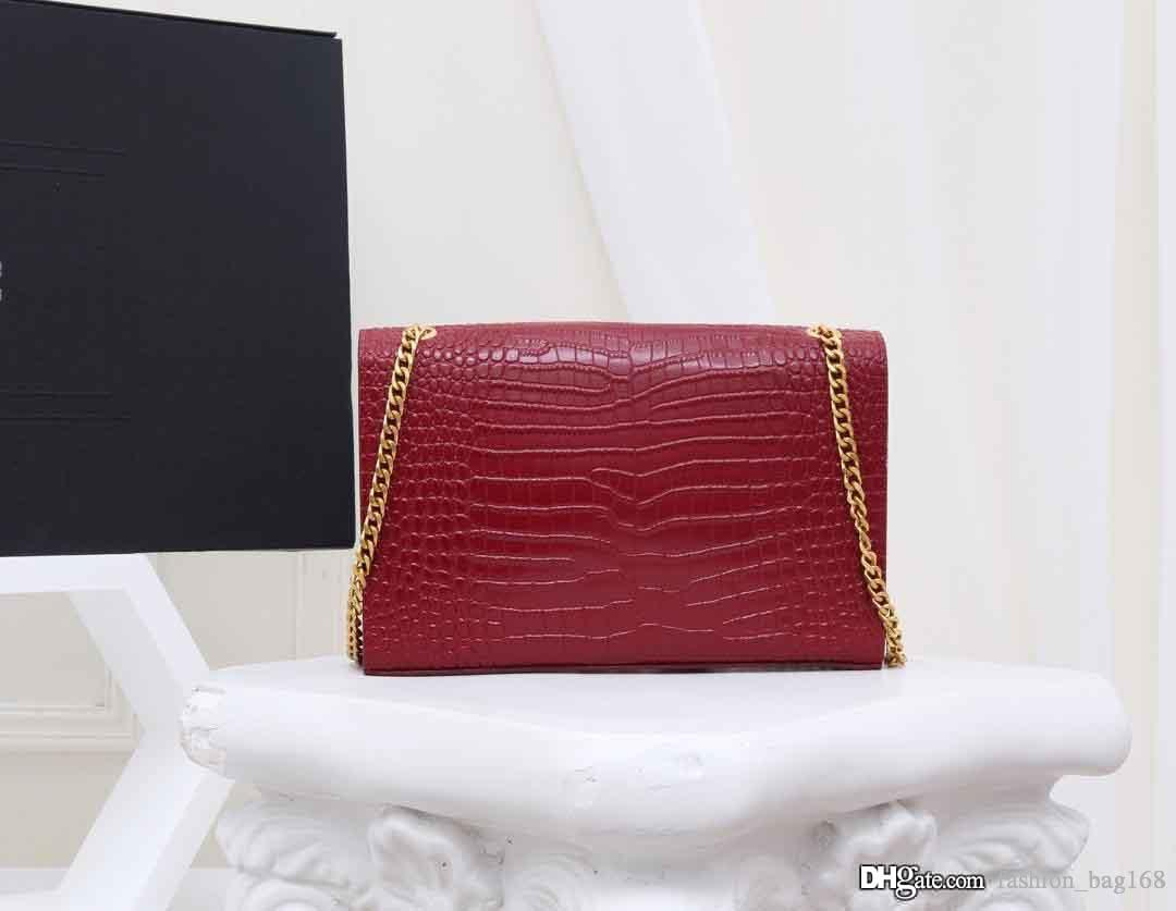 Luxury Designer Woman Handbag Classic Chain Cross body Bag Croco Print Small Shoulder Flap Bags Genuine Leather High Quality Purse Tote bags